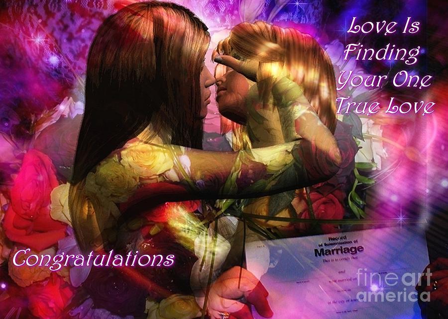 Lesbian Digital Art - Equal Marriage by Carmen Waterman