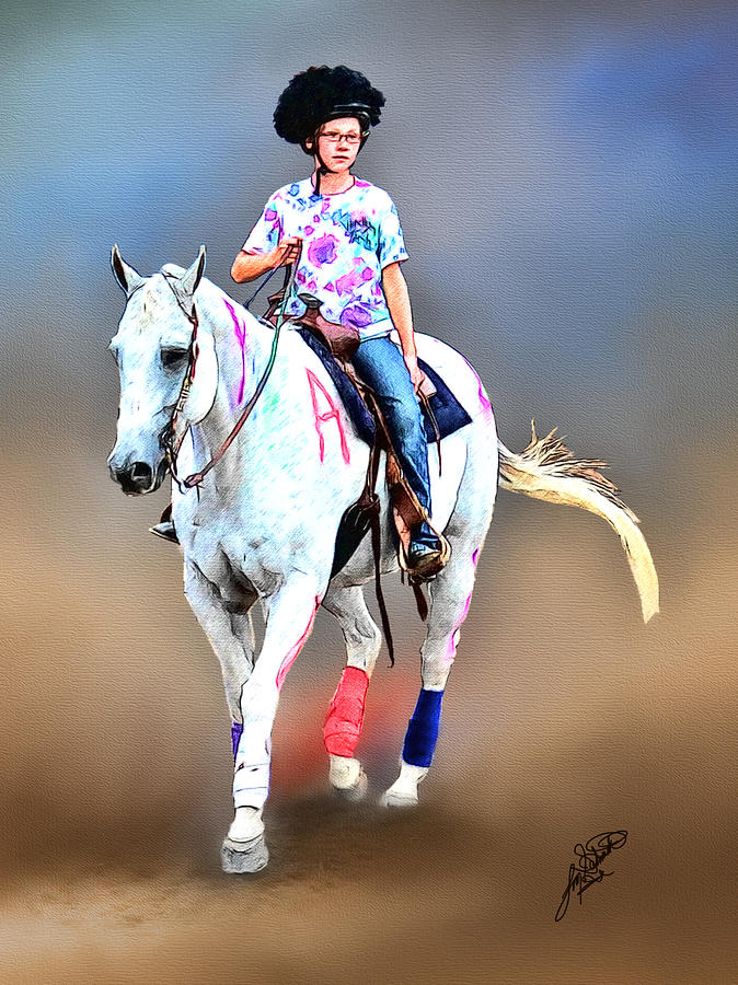 Horse Pictures Painting - Equestrian Competition II by Tom Schmidt