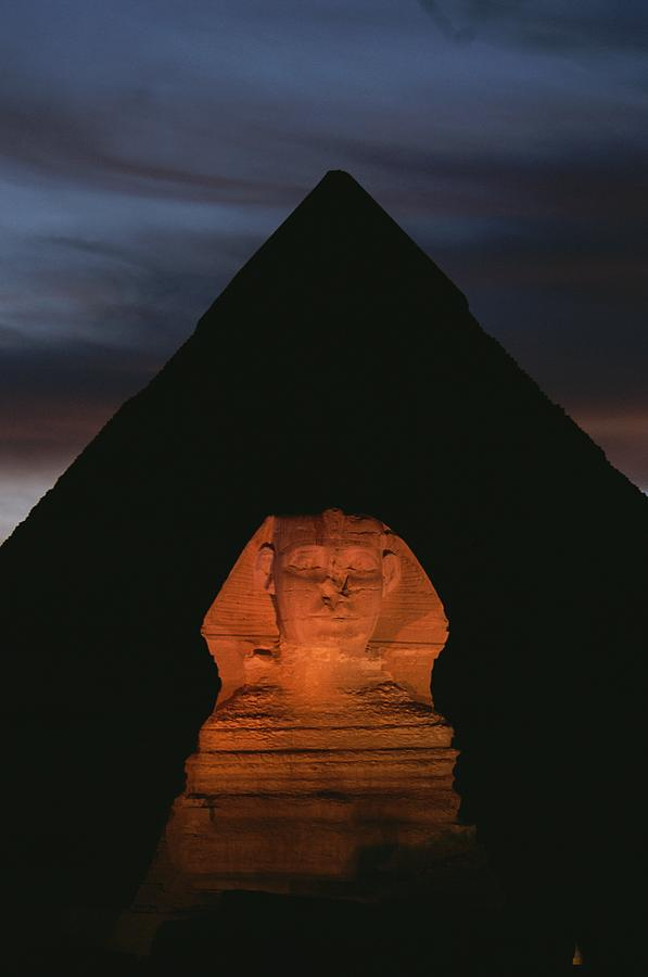Equinox Sunset At The Sphinx Photograph  - Equinox Sunset At The Sphinx Fine Art Print