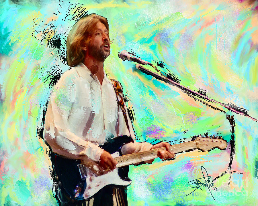 Eric clapton 2 painting by donald pavlica for Eric mural painter