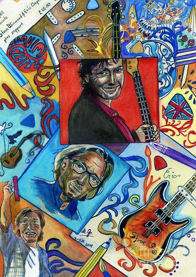 Eric Clapton And Steve Winwood Drawing
