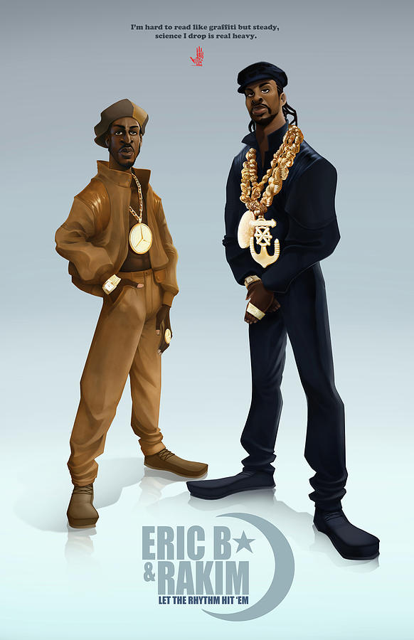 Ericb And Rakim Digital Art  - Ericb And Rakim Fine Art Print