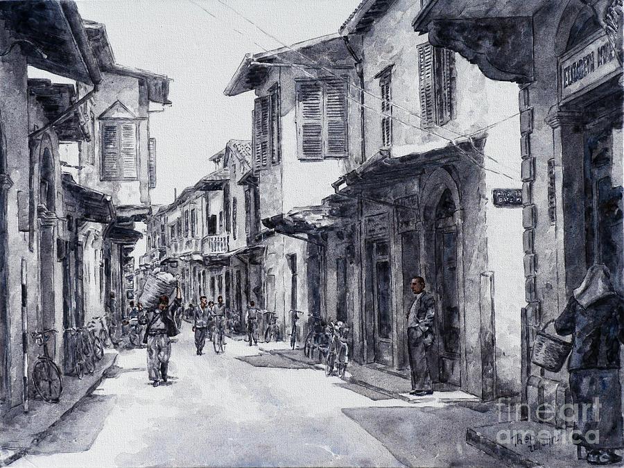 Ermou Street Painting