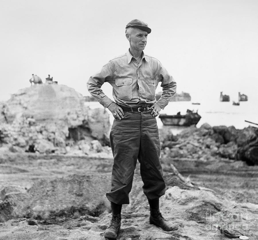 Ernie Pyle (1900-1945). American Journalist. Photograph, C1942 Photograph