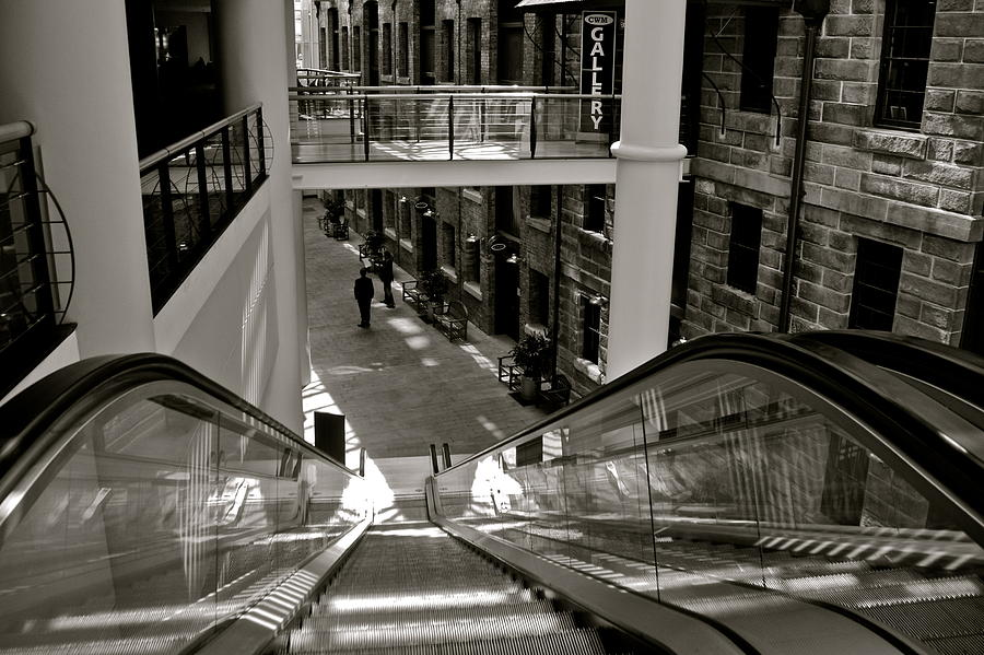 Escalator Going Down In Sydney Photograph