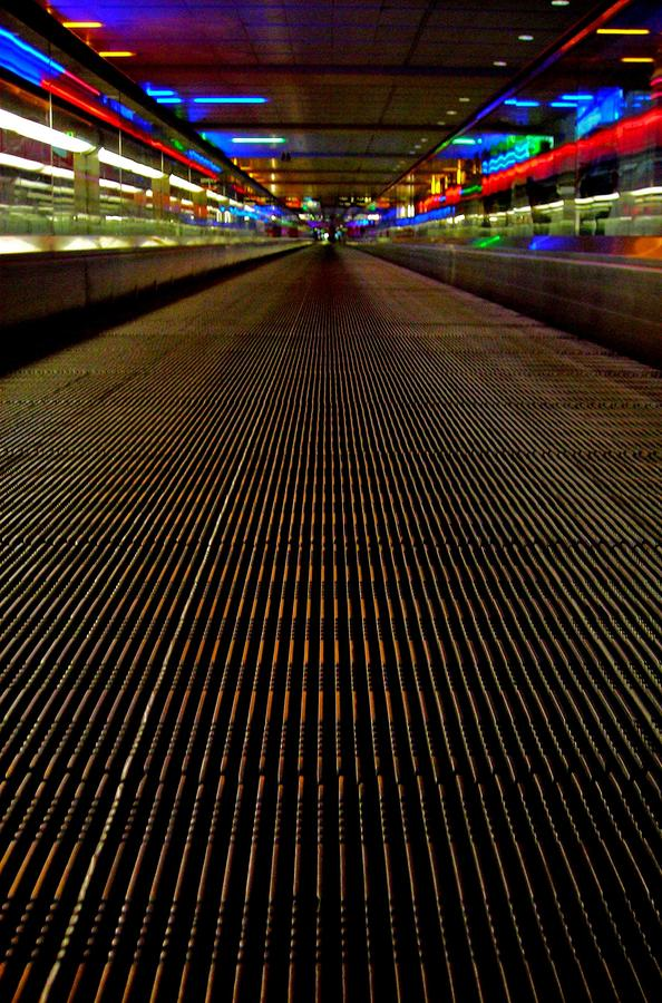 Escalator View ... Photograph  - Escalator View ... Fine Art Print