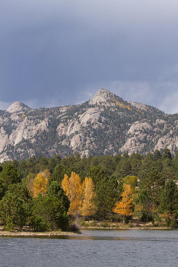 Estes Park Autumn Lake View Vertical Photograph