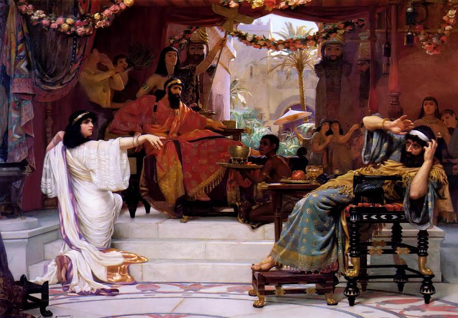 Esther Denouncing Haman Painting