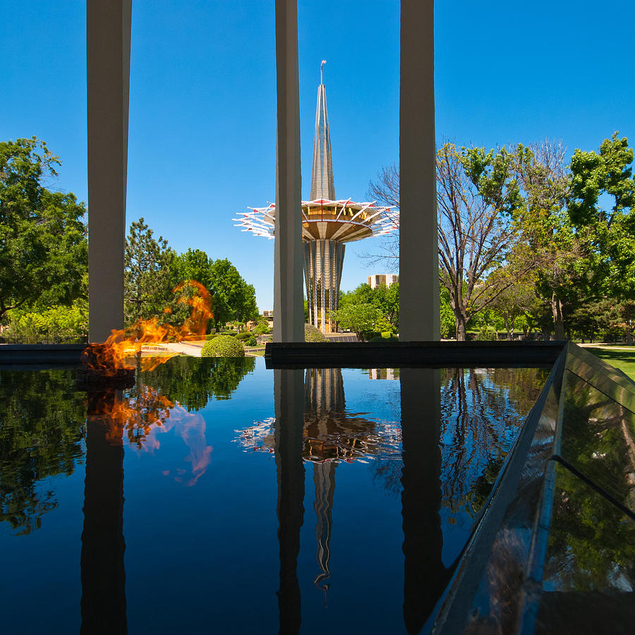 Eternal Flame Fountain Photograph