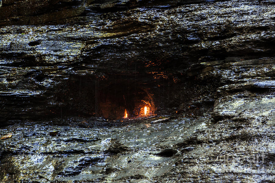 Waterfall Photograph - Eternal Flame Reflections by Darleen Stry