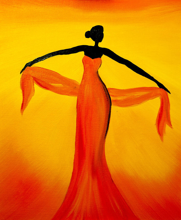 Ethnic Dancer - 3 Painting  - Ethnic Dancer - 3 Fine Art Print