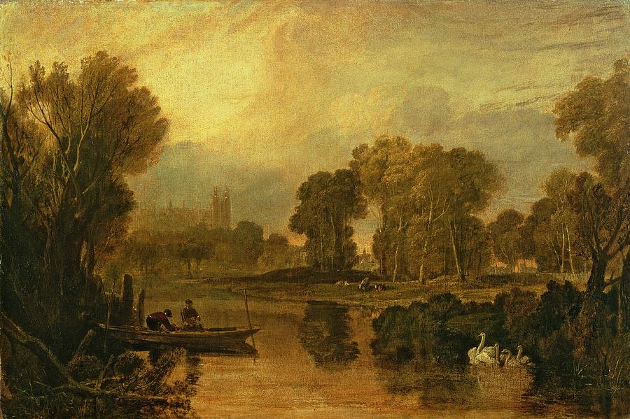 Eton College From The River Painting