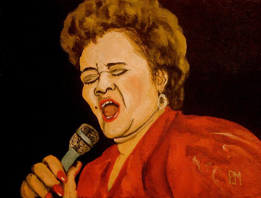 Etta James Painting - Etta II by Pete Maier