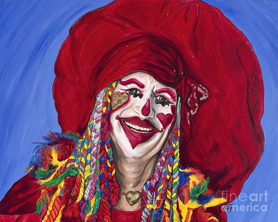 Eureka Springs Clown Painting  - Eureka Springs Clown Fine Art Print