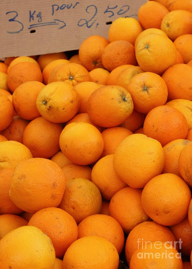 European Markets - Oranges Photograph  - European Markets - Oranges Fine Art Print
