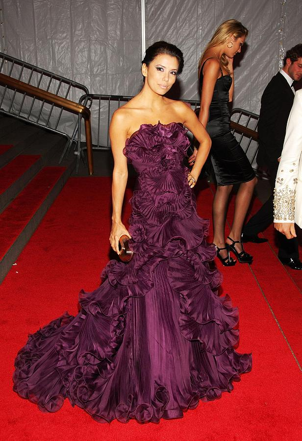 Eva Longoria Wearing A Marchesa Gown Photograph  - Eva Longoria Wearing A Marchesa Gown Fine Art Print