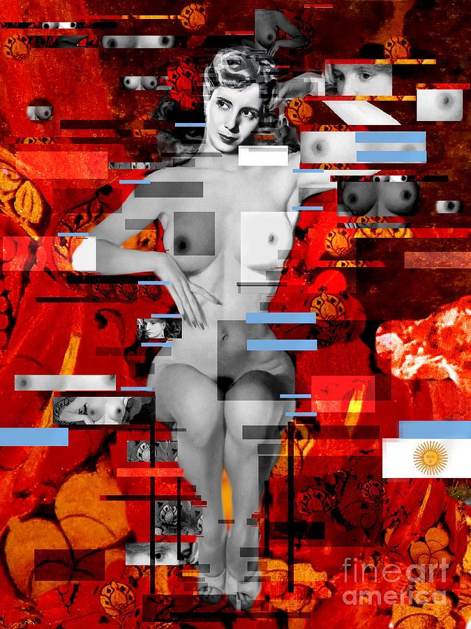 Eva Peron Nude En Rouge Painting