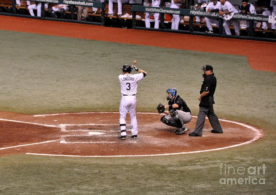 Evan Longoria - At The Plate Photograph  - Evan Longoria - At The Plate Fine Art Print