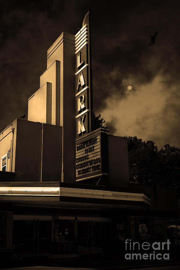 Evening At The Lark - Larkspur California - 5d18484 - Sepia Photograph