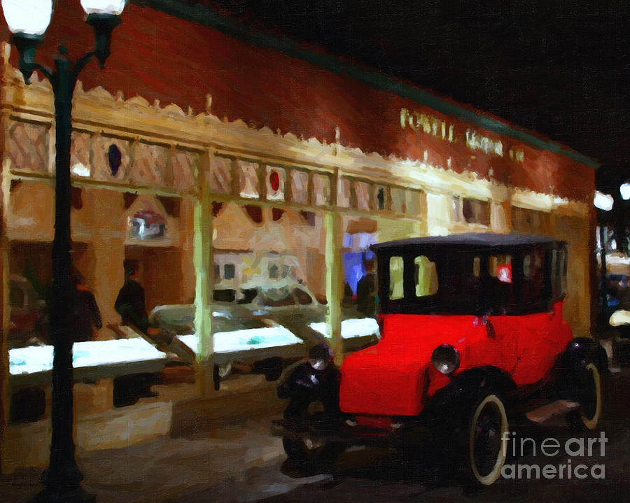 Evening At The Vintage American Car Dealership - 7d17460 Photograph  - Evening At The Vintage American Car Dealership - 7d17460 Fine Art Print