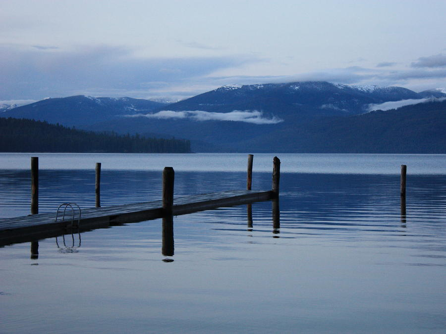 Evening Calm On Priest Lake Photograph  - Evening Calm On Priest Lake Fine Art Print