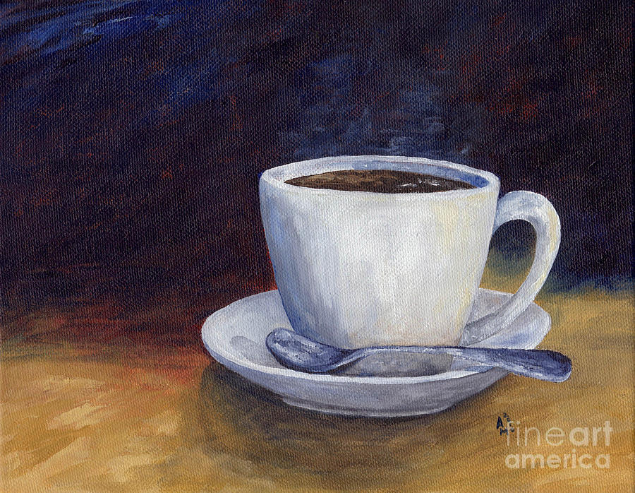 Evening Cup Painting  - Evening Cup Fine Art Print