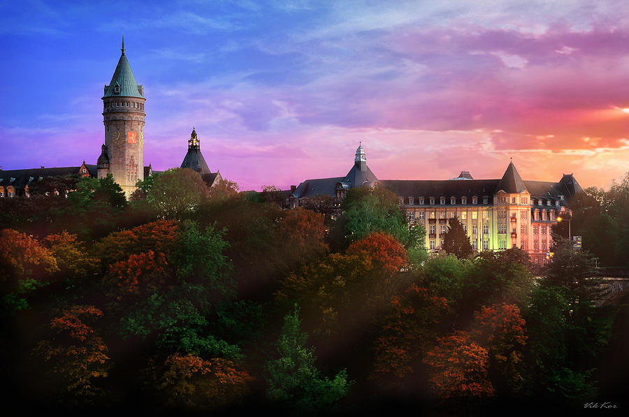 Evening In Luxembourg Photograph  - Evening In Luxembourg Fine Art Print