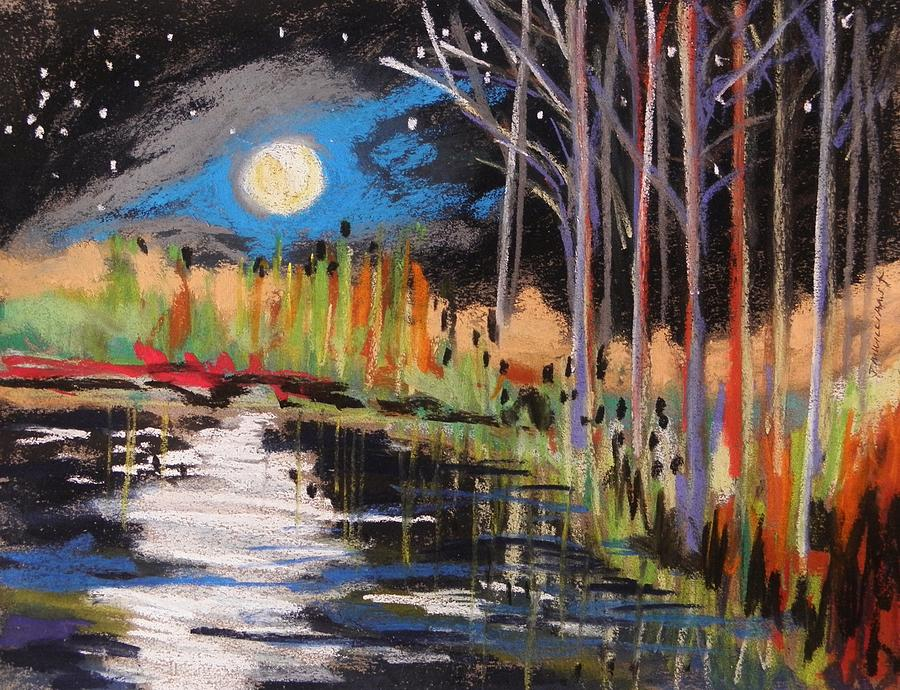 Evening Near The Pond Painting