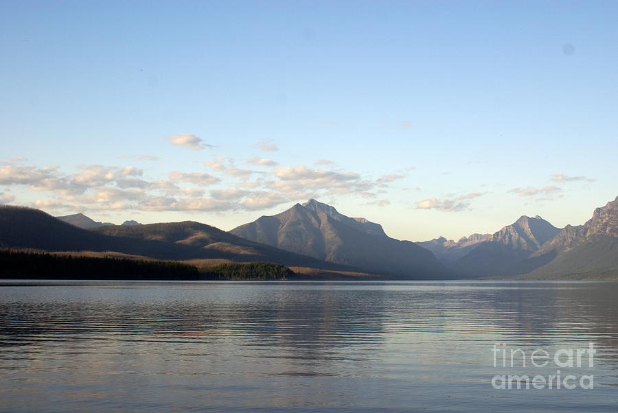 Evening On Lake Mcdonald Photograph
