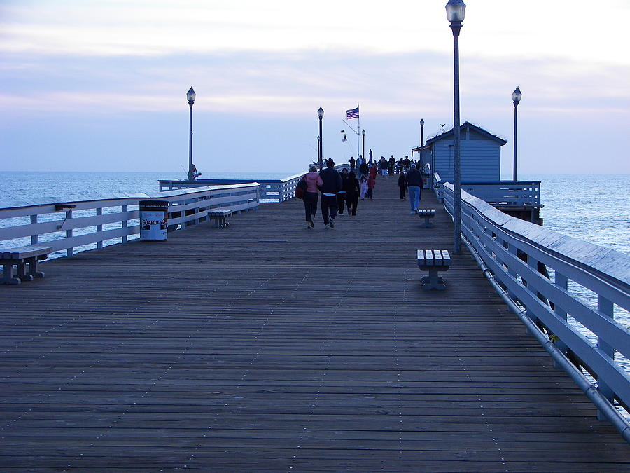 Evening On San Clemente Pier Photograph