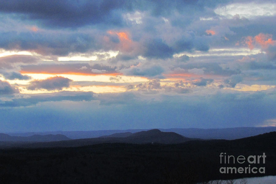Evening Sky Over The Quabbin Photograph  - Evening Sky Over The Quabbin Fine Art Print