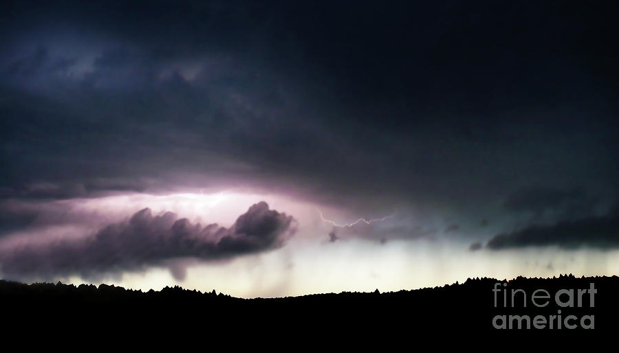 Evening Storm Photograph  - Evening Storm Fine Art Print