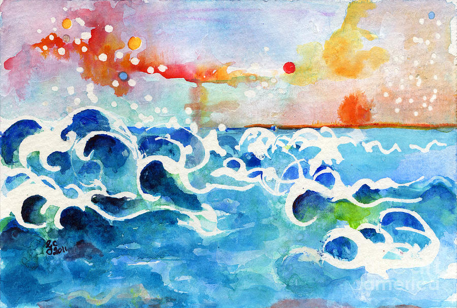 Seascape Painting - Evening Tide by Ginette Callaway