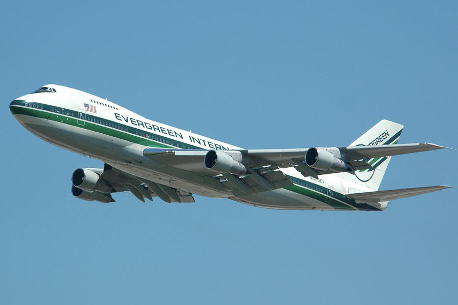 Evergreen International 747-273c N470ev At San Bernardino May 31 2006 Photograph  - Evergreen International 747-273c N470ev At San Bernardino May 31 2006 Fine Art Print