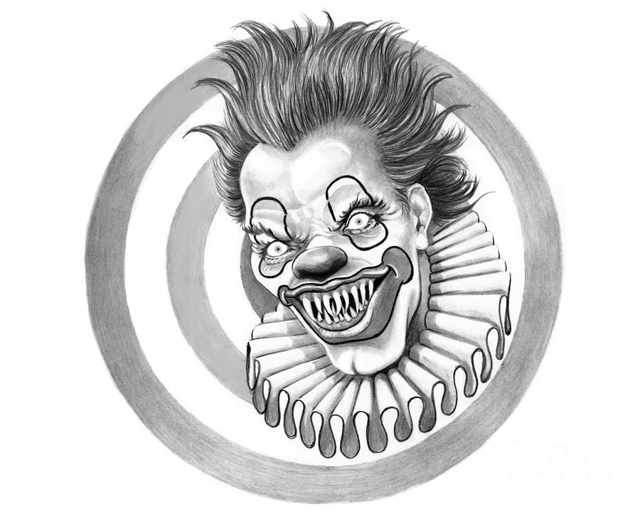 Evil Clown Drawings