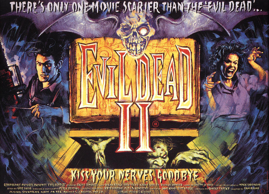 1980s Movies Photograph - Evil Dead II, Left, Bruce Campbell by Everett