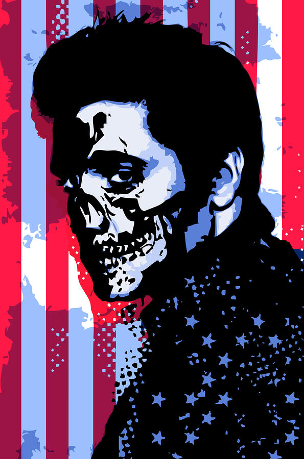 Evil Elvis Digital Art  - Evil Elvis Fine Art Print