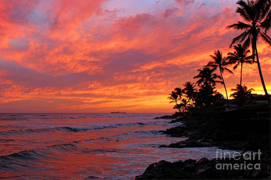 Ewa Beach Sunset Photograph