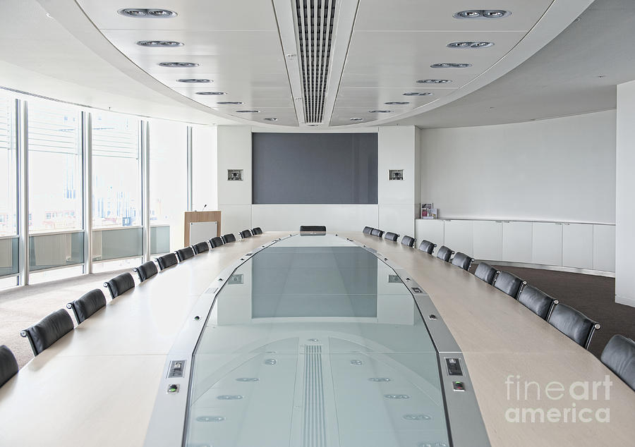 Executive Boardroom Photograph  - Executive Boardroom Fine Art Print
