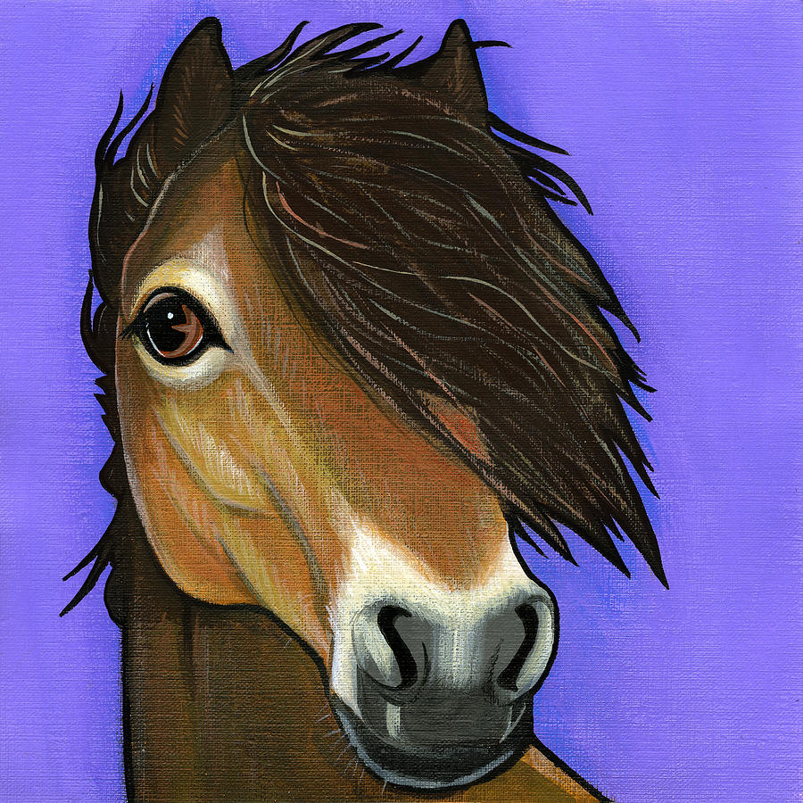 Exmoor Pony  Painting  - Exmoor Pony  Fine Art Print