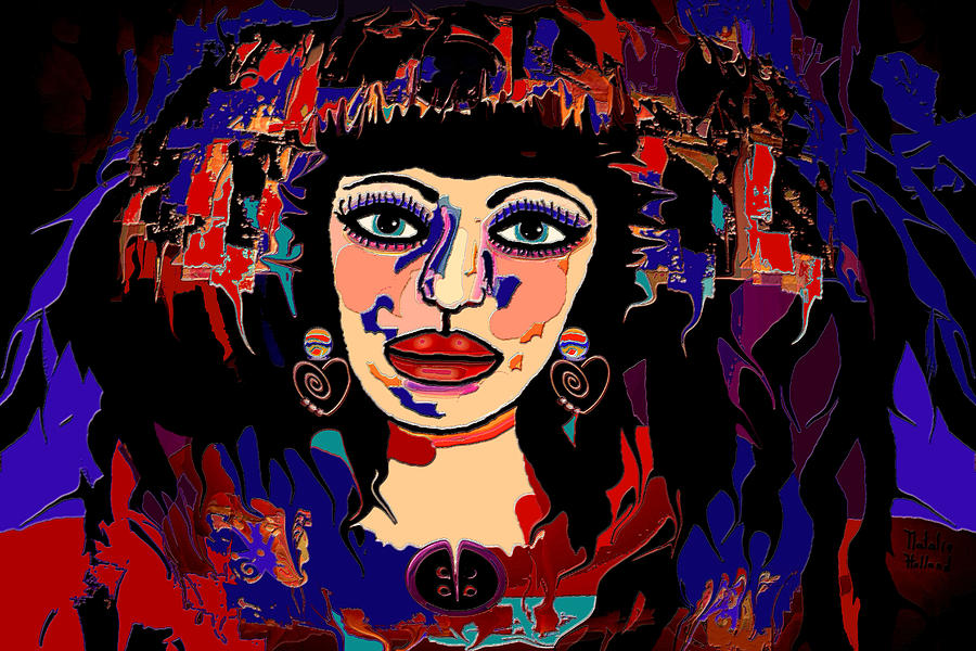 Exotic Woman Mixed Media  - Exotic Woman Fine Art Print