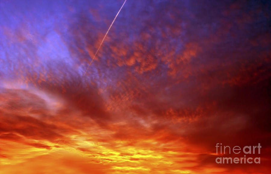 Exploded Sky Photograph  - Exploded Sky Fine Art Print