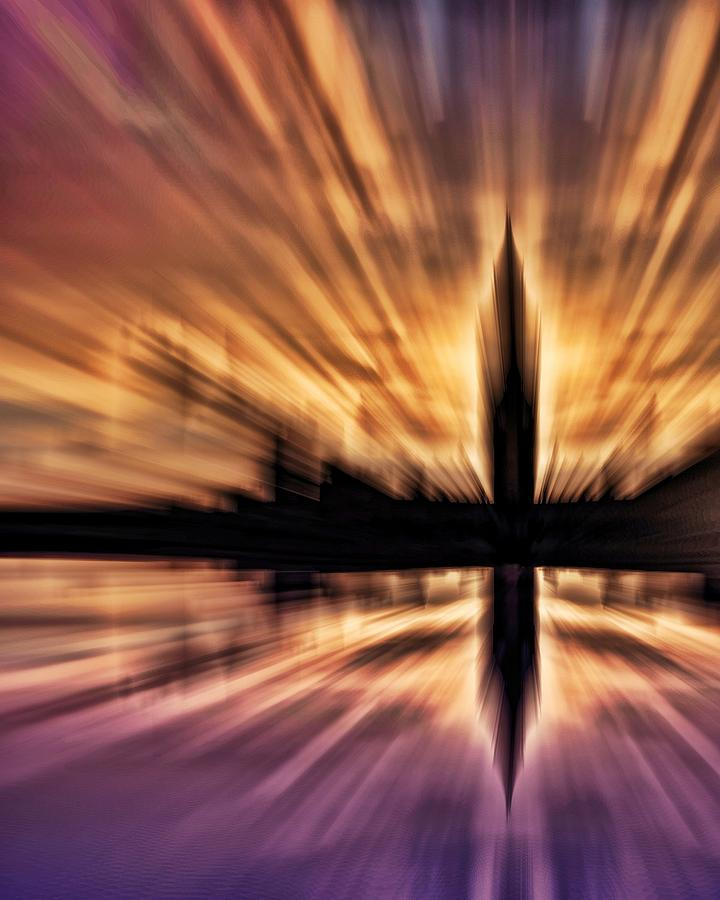 London Skyline Photograph - Exploding Powers by Sharon Lisa Clarke