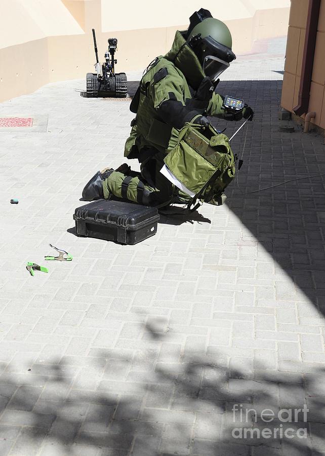 Explosive Ordnance Disposal Technician Photograph