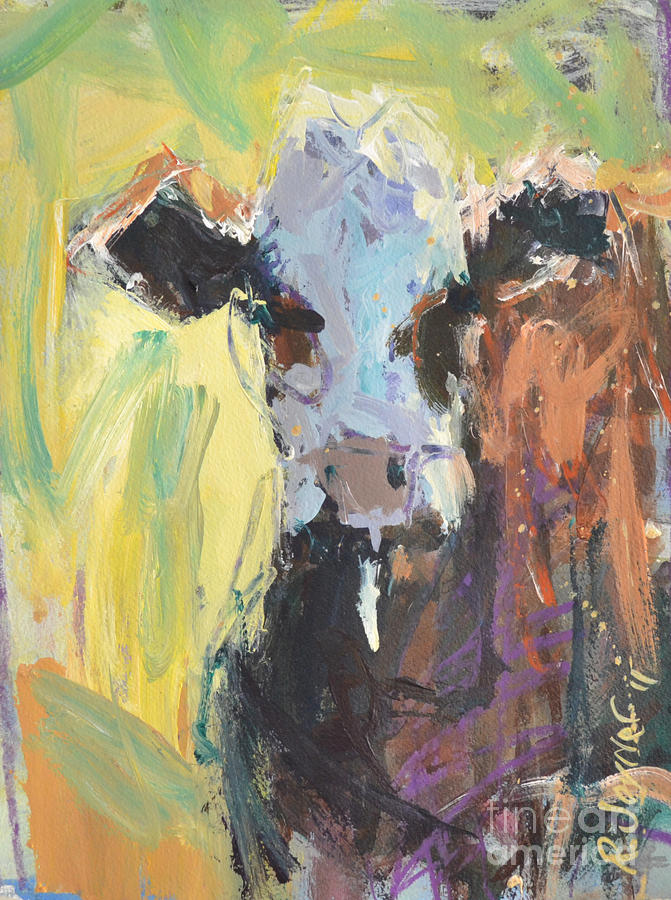 Expressive Cow Artwork Painting  - Expressive Cow Artwork Fine Art Print