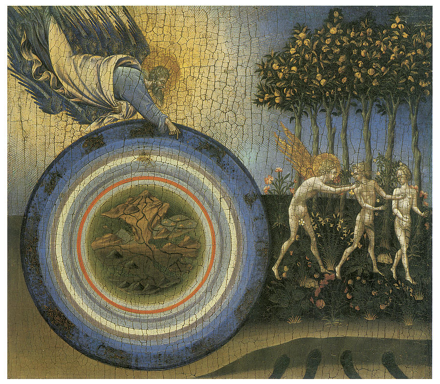 Giovanni Di Paolo Painting - Expulsion From Paradise by Giovanni Di Paolo