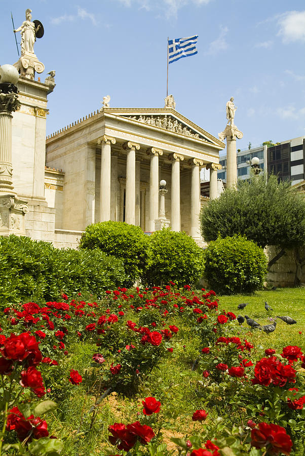 Exterior Of The Athens Academy, Greece Photograph