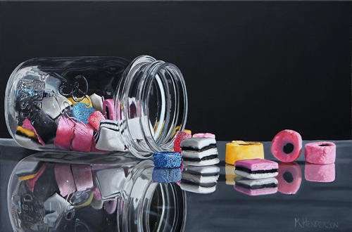 Eye Candy By K Henderson Painting