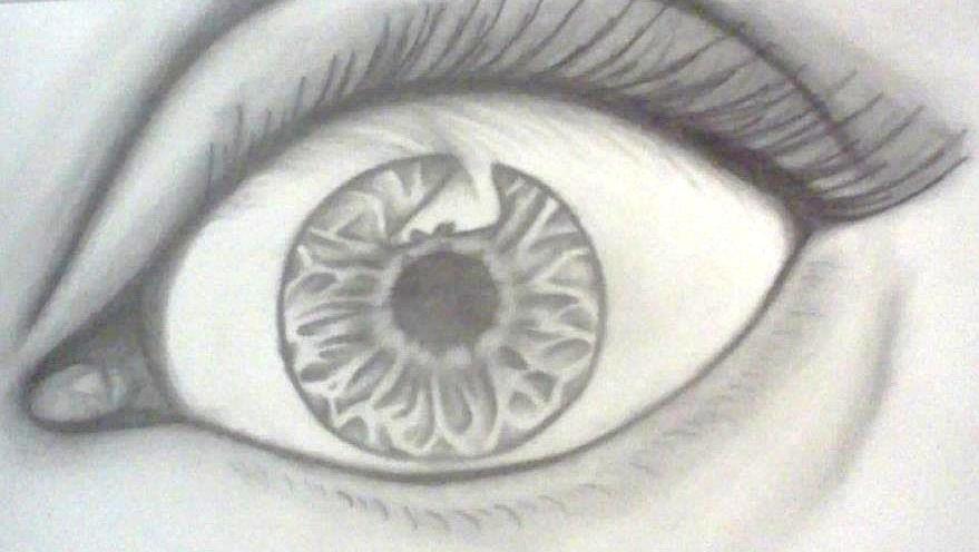 Eye Drawing - eye by Erica Koczorowski