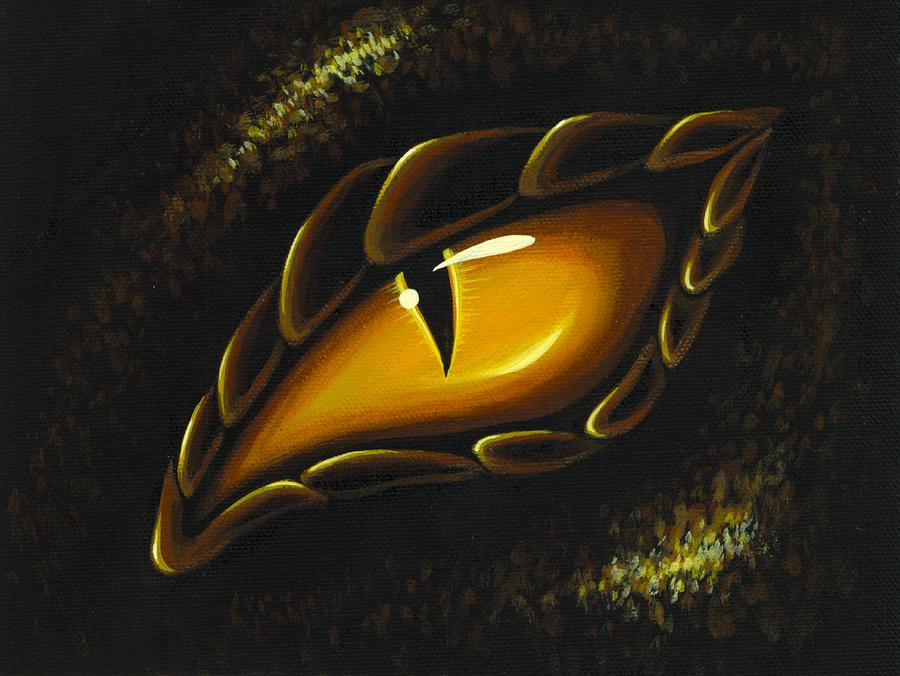 Eye Of Golden Embers Painting  - Eye Of Golden Embers Fine Art Print